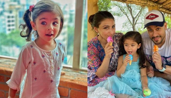Soha Ali Khan Gives A Sneak-Peek Into Inaaya's 'Dog Day Afternoon', Baby Inaaya Poses With A Pug
