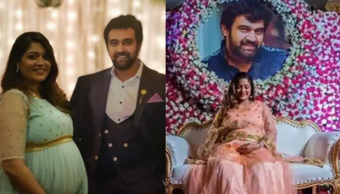 Late Chiranjeevi Sarja's Family Welcomes Junior Chiru At Meghana Raj's Baby Shower, Video Inside