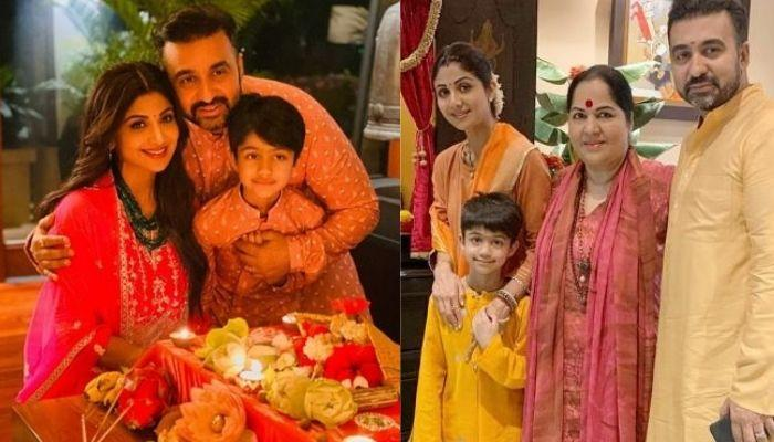 Shilpa Shetty's Son, Viaan Performs 'Puja' On The 4th Day Of 'Navratri', Chants 'Gayatri Mantra'