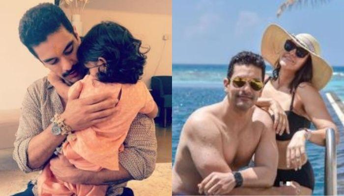 Angad Bedi Enjoys Pool Date With Daughter, Mehr In Maldives, She Looks Adorable In Blue Swimsuit