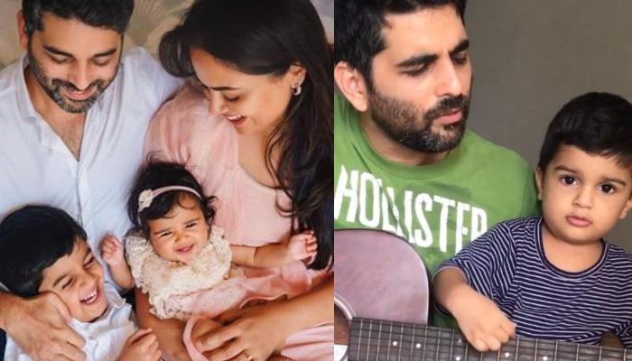 Sameera Reddy Shares Her Hubby, Akshai Varde And Their Son, Hans Varde's Adorable Singing Video