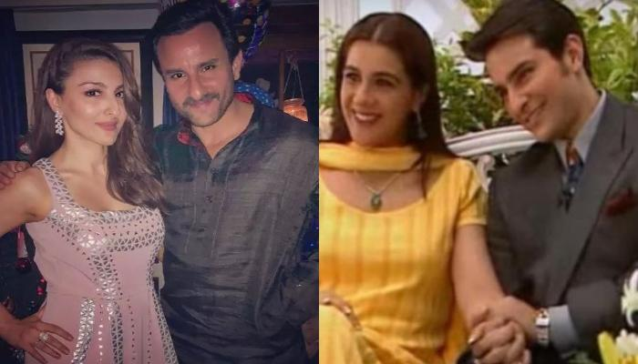 Unseen Black-And-White Picture Of Saif Ali Khan And Soha Ali Khan With His First Wife, Amrita Singh