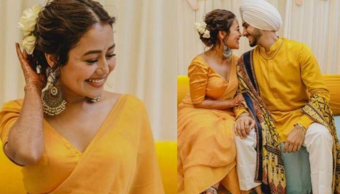 Neha Kakkar Dances With Her Family On 'Dhol' As She Makes A Grand Entry On Her 'Haldi' Ceremony