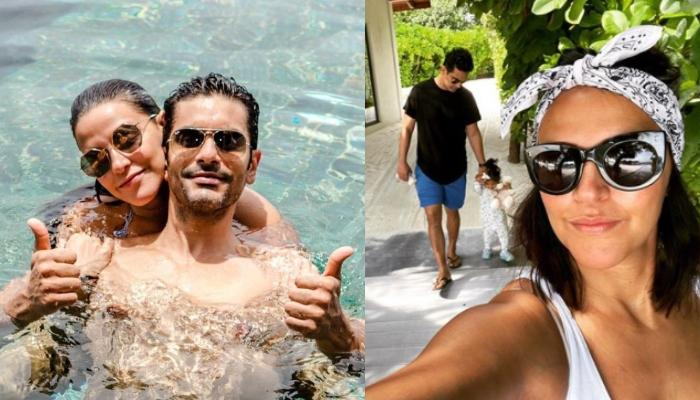 Neha Dhupia Enjoying The Scenic Beauty Of Maldives With Angad And Mehr Will Make You Wanderlust
