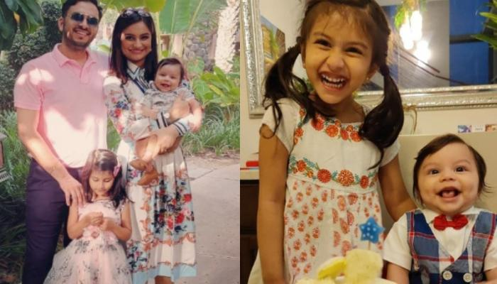 Dimpy Ganguly Shares An Adorable Picture Of Her Little Munchkins, Reanna And Aryaan On 'Mahaashtami'