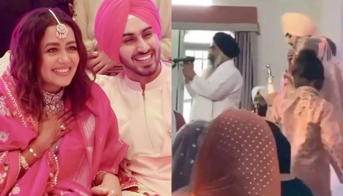 Neha Kakkar Twins With Her 'Dulha', Rohanpreet In Pink Ensemble, Dons A Unique 'Jaimala'