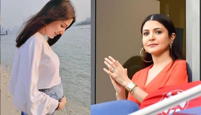 IPL के दौरान रेड ड्रेस में बेबी बंप फ्लॉन्ट करते नजर आईं अनुष्का शर्मा, देखें खूबसूरत तस्वीरें