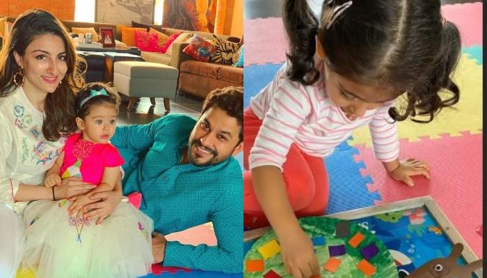 Soha Ali Khan Shares Inaaya Naumi Kemmu's DIY Diwali Preparations As She Makes 'Torans'