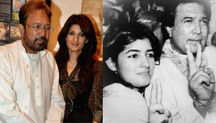 Rare Photo Of Young Twinkle Khanna With Her Dad, Rajesh Khanna From The Sets Of His Film 'Alag Alag'