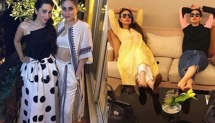Kareena Kapoor Flaunts Her Baby Bump As She Twins With Sister, Karisma For A Shoot At Home