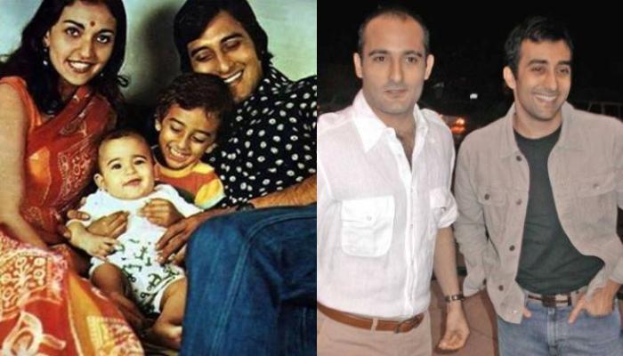 Rare Photo Of Vinod Khanna Playing With His Kids, Akshaye Khanna And Rahul Khanna At The Beach