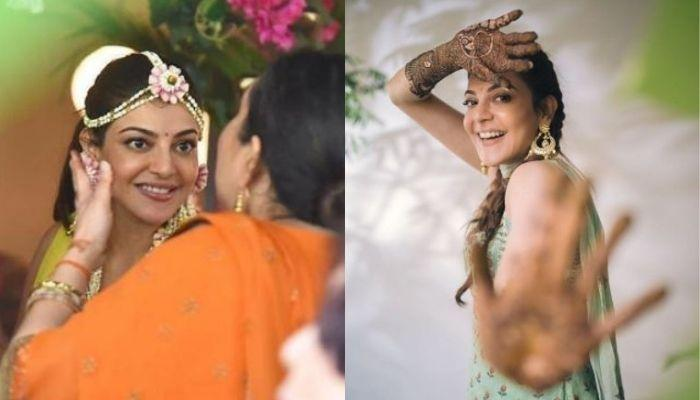 Inside Pictures Of Kajal Aggarwal's 'Haldi' Ceremony Exude Her Excitement To Get Married To Gautam