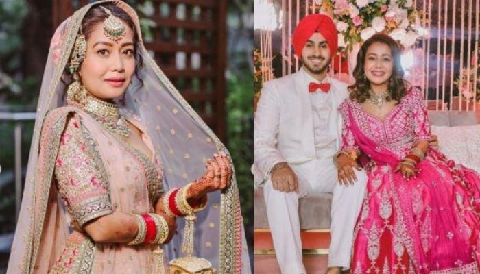 Neha Kakkar Shares First Photo With Her In-Laws, Her Reception Cake Had Her And Rohanpreet's Picture