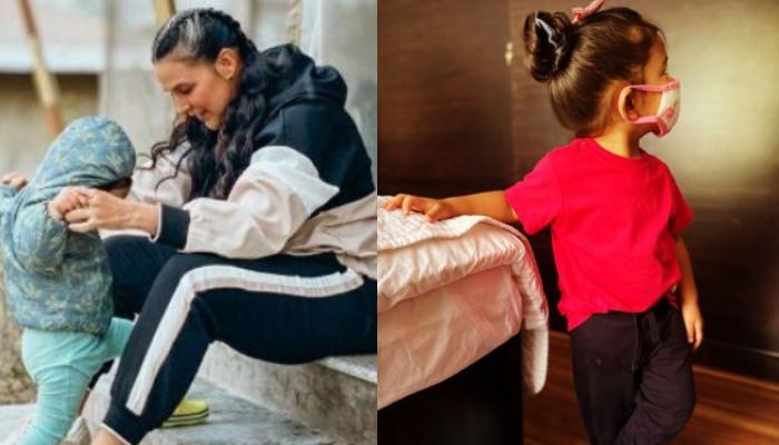 Neha Dhupia Shares Glimpses Of Her Girl, Mehr Dhupia Bedi Dressed As The Cutest 'Witch' On Halloween