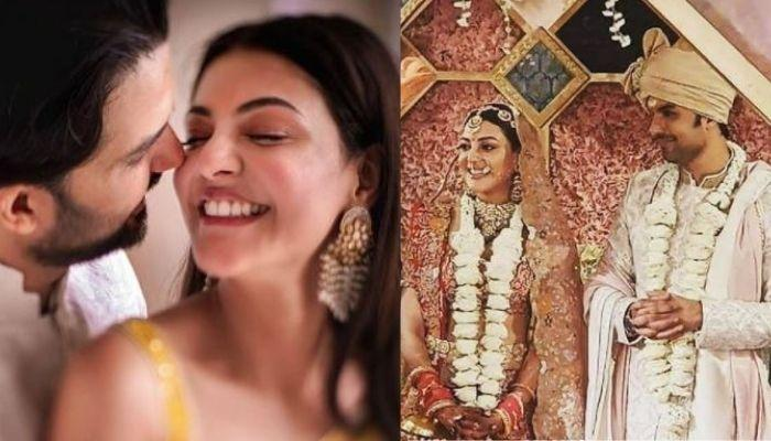 Kajal Aggarwal Holds Hands Of Now-Husband, Gautam Kitchlu For Their 'Saat Phere' [Pictures]