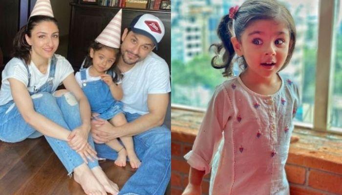 Soha Ali Khan, Kunal Kemmu And Inaaya Naumi Kemmu Twin For Halloween, Little One Steals The Show