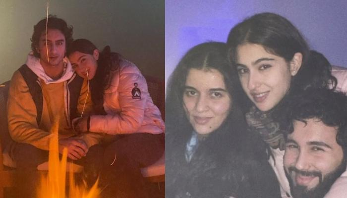 Sara Ali Khan Poses With Brother, Ibrahim Ali Khan And BFFs, Celebrates 2021 With Hugs And Cuddles