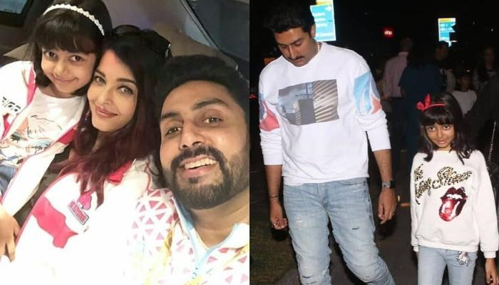 Aaradhya Bachchan Twins In White With Daddy, Abhishek Bachchan For A Family Dinner Date