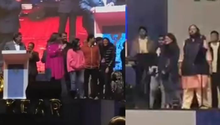 Mukesh Ambani And Clan Officially Welcome Radhika Merchant In Their Family On Reliance Annual Day