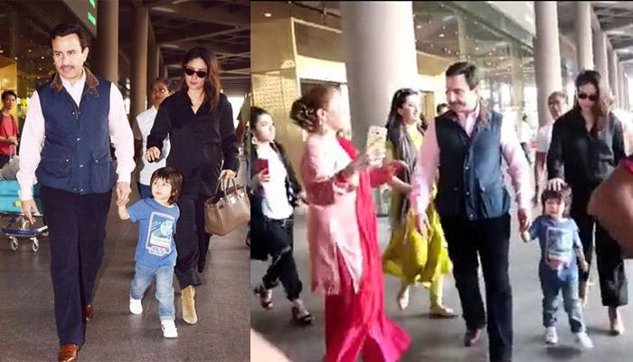 Saif Ali Khan Loses His Cool At Fans For Constantly Clicking Him, Kareena And Taimur, Netizens React