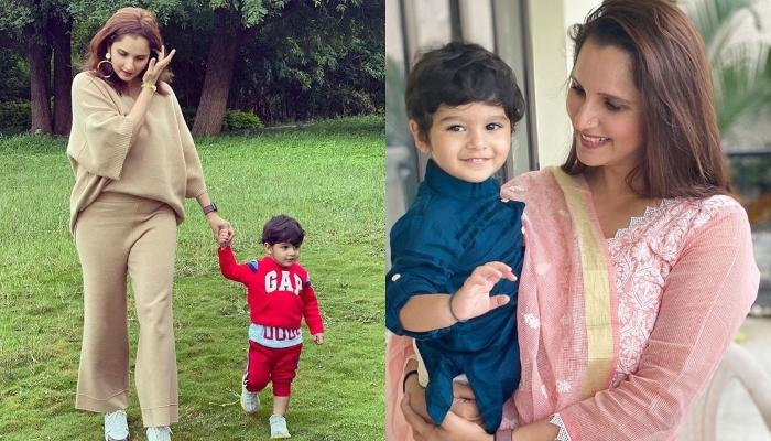 Sania Mirza's Son, Izhaan Mirza Malik Beams With Happiness On A Swing As 'Amma' Records The Video