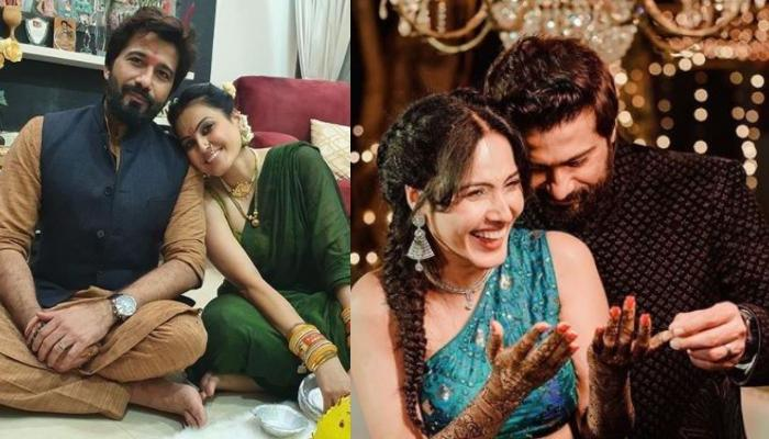 Karwa Chauth 2020: Kamya Panjabi's Husband, Shalabh Dang Applies 'Mehendi' On Her Hands [See Inside]