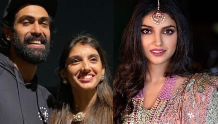 Rana Daggubati And Miheeka Bajaj's First Karwa Chauth Look Proves Red Will Always Be Bride's Colour