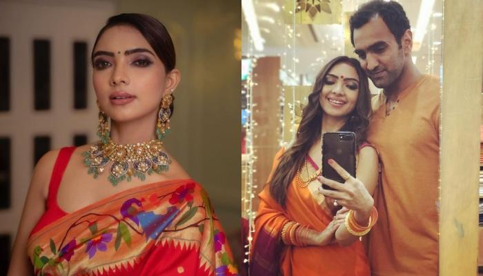 Pooja Banerjee Glows In A Dark Pink Lehenga-Choli For Karwa Chauth, Shares Pictures Of The Rituals