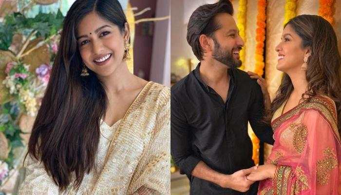 Is 'Drishyam' Fame Ishita Dutta Pregnant? Fans Speculate From Her Karwa Chauth Pictures With Hubby