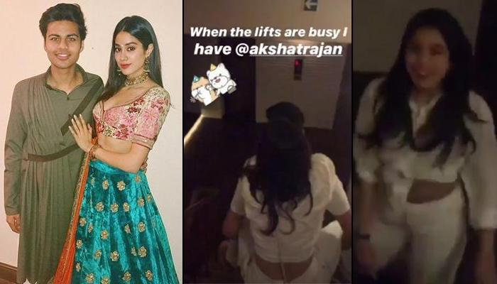 Janhvi Kapoor Gets A Piggyback Ride From Her Once Rumoured Beau, Akshat Ranjan 'When Lifts Are Busy'