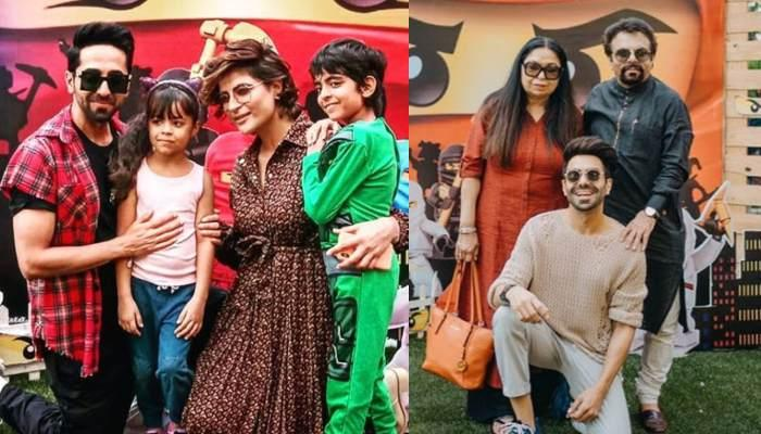 Ayushmann And Aparshakti Khurana Pose For A 'Shady Family' Portrait With Parents, Wives And Kids