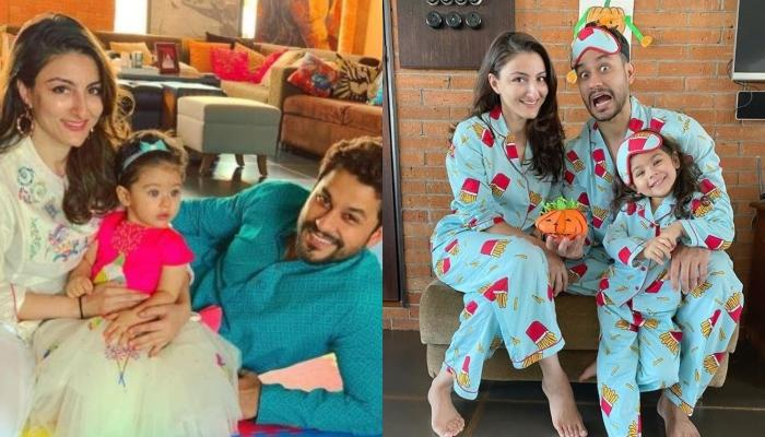 Soha Ali Khan Shares A Picture Of Little Inaaya Painting 'Diya' For Her DIY Diwali Preparations