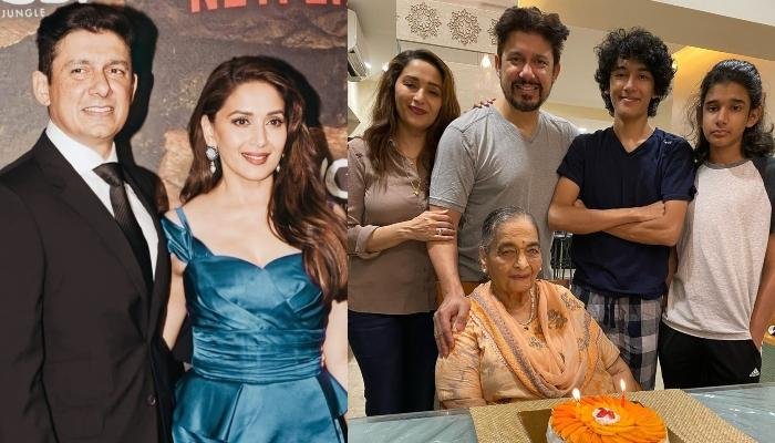 Madhuri Dixit's Hubby, Shriram Nene Shares A Cute Picture With Kids, Wonders How Fast They Grow Up