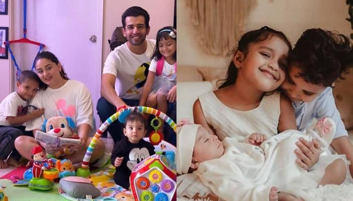 Mahhi Vij And Jay Bhanushali Host A Party As Their Adopted Kids Khushi And Rajveer Reunite With Them