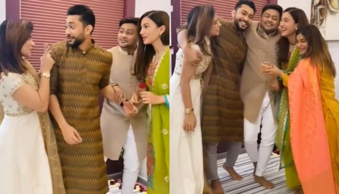 Gauahar Khan Receives A Filmy Welcome In Beau, Zaid Darbar's Family By His Brother Awez And Siblings