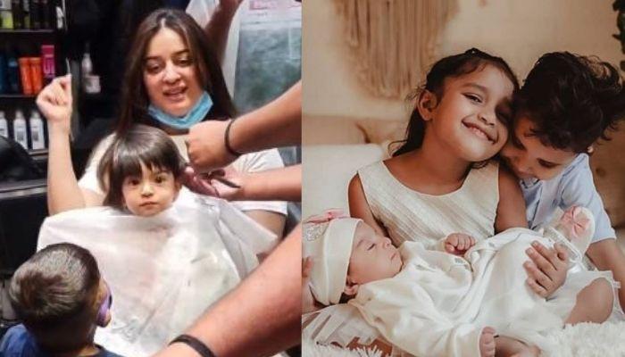 Mahhi Vij's Daughter, Tara Gets A Haircut, Bro Rajveer And Sis Khushi Try To Make Her Laugh [Video]
