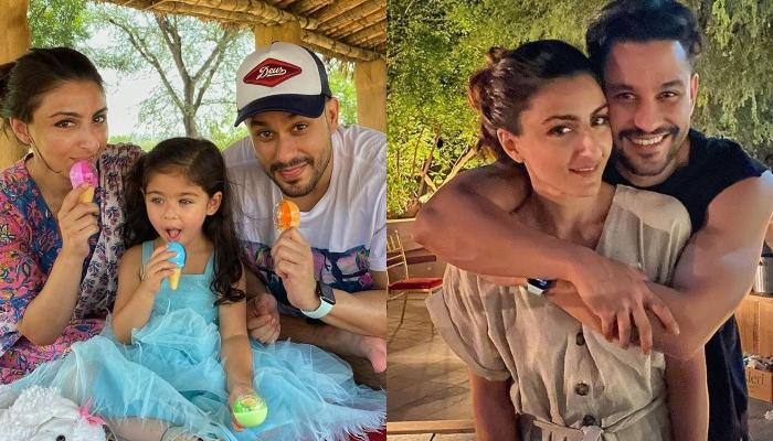 Inaaya Naumi Kemmu Shines In A Golden Lehenga As Mommy, Soha Shares A Family Picture On Diwali