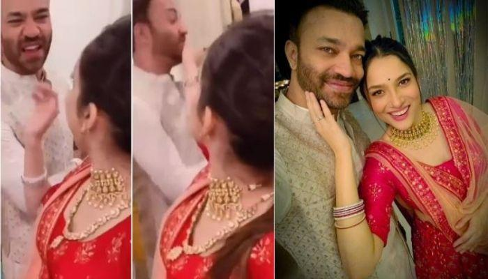 Ankita Lokhande Scolds Her BF, Vicky Jain For His Etiquettes While Recording A Diwali Video [Watch]