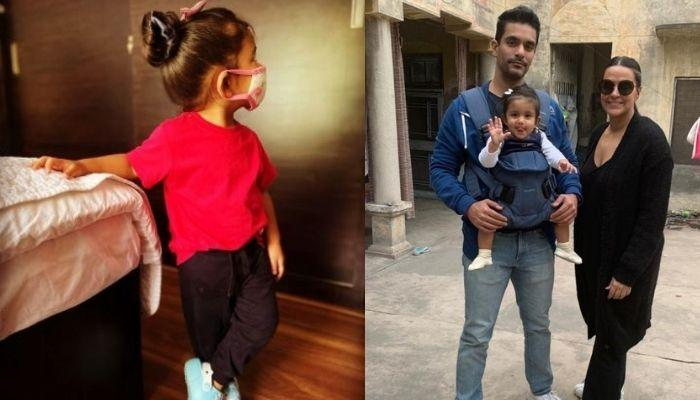 Neha Dhupia And Angad Bedi Turn Their House Into A 'Mickey Mouse Club' For Mehr's 2nd Birthday