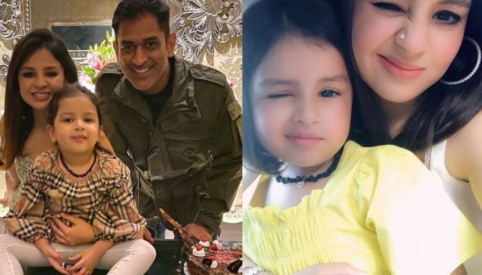 Sakshi Dhoni Celebrates 32nd Birthday With Daughter, Ziva Dhoni, The Huge Cake Steals The Limelight