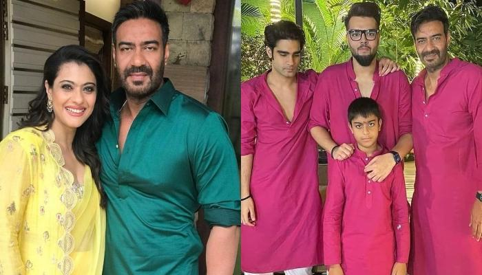 Kajol Shares A Picture Of The 'Men In Her Family', Hubby, Ajay Devgn With Son, Yug And Their Nephews