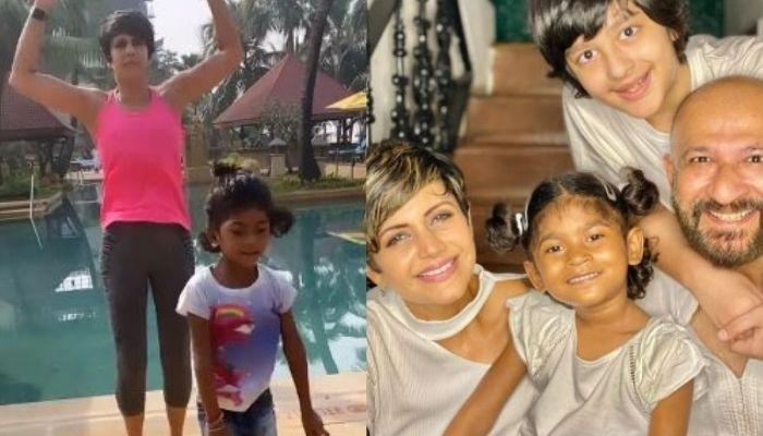 Mandira Bedi's Adopted Daughter, Tara Tries To Imitate Her Fitness Routine, She Shares A Cute Video