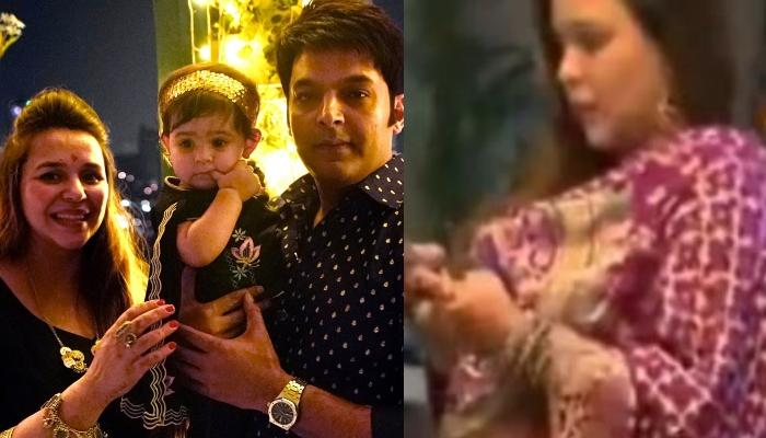 First Glimpse Of Kapil Sharma's Wife Ginni Chatrath Flaunting Baby Bump Amid Second Pregnancy Rumors
