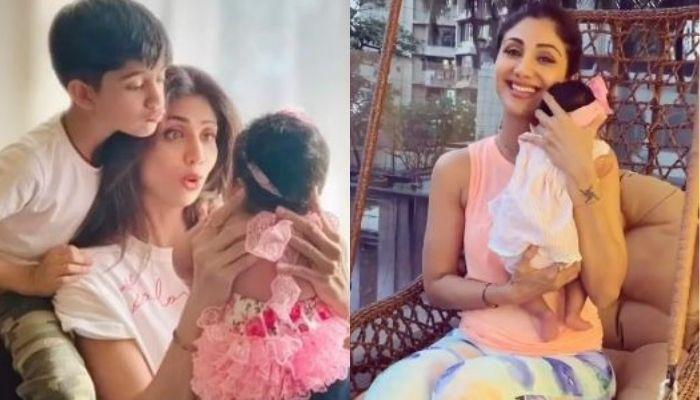First Pictures Of Shilpa Shetty Kundra's Daughter, Samisha Shetty Kundra As They Step Out Together