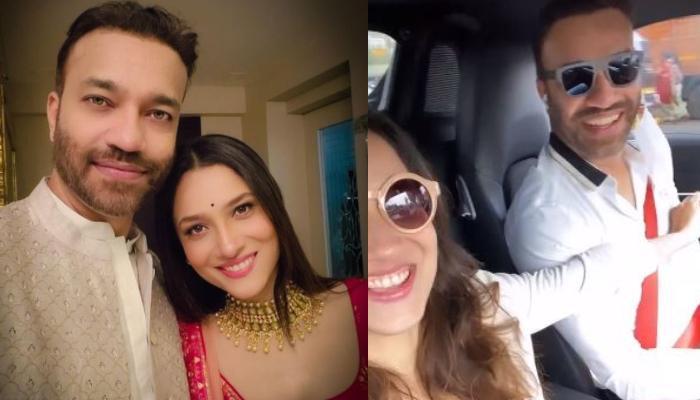 Ankita Lokhande And Vicky Jain Enjoy A Car Ride, Groove On The Song, 'Khullam Khulla Pyaar Karenge'