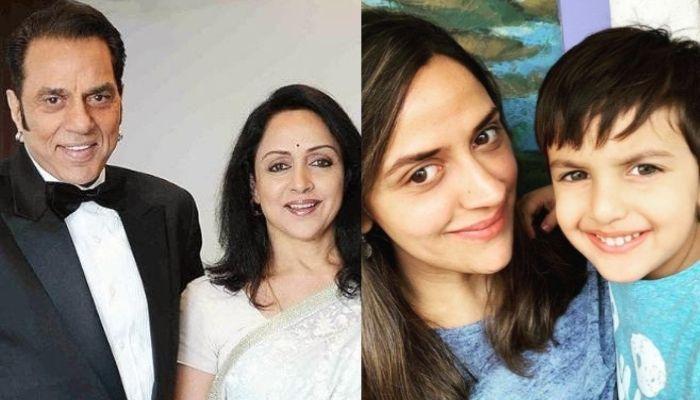 Hema Malini And Dharmendra's Unseen Photo With Grandson, Darien Vohra As 'Nani-Dhewta' Twinned