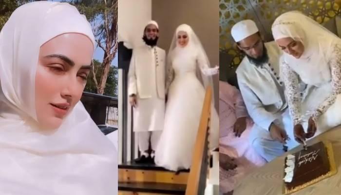 बिग बॉस फेम सना खान ने मुफ्ती अनस संग गुजरात में रचाई शादी, कई वीडियोज आए सामने