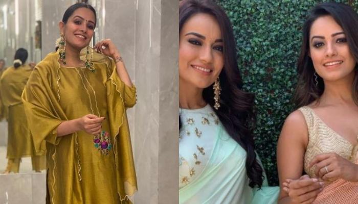 Anita Hassanandani Flaunts Her Baby Bump In A Yellow Floral Dress, Poses With BFF, Surbhi Jyoti