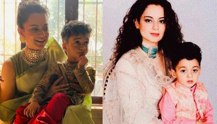 Kangana Ranaut Recalls How Her Nephew, Prithvi Had Made Her Teary-Eyed Before She Left For The Shoot