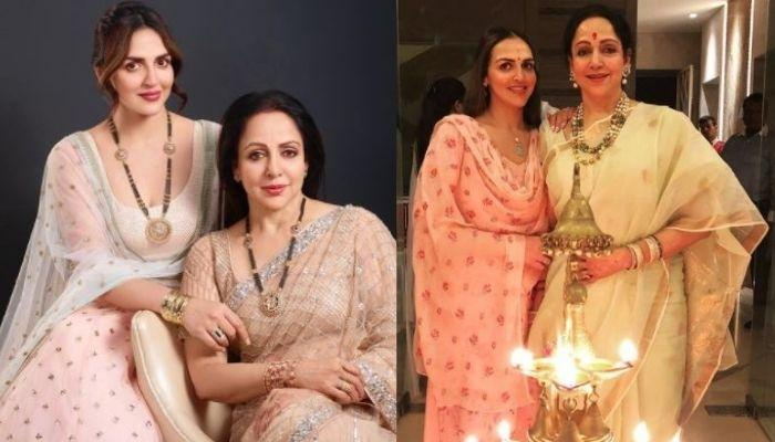 Hema Malini Plays With Baby Esha Deol In This Unseen Picture As The Baby Girl Sits On Her Mommy